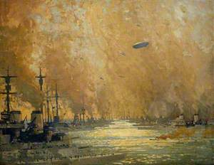 The German Fleet after Surrender, Firth of Forth, 21 November 1918