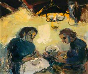 Joan Kathleen Harding Eardley (1921–1963), with her Companion Rita (Known as Reet, Guenigault)