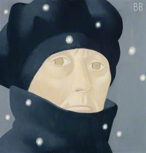 Barbara Balmer (b.1929), Artist, Self Portrait on a Frosty Friday