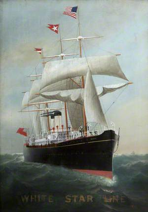 'Britannic', Passenger Ship Built by Harland & Wolff Ltd, for the Oceanic Steam Navigation Company (No. 83, Launched 3 February 1874, Completed 6 June 1874)