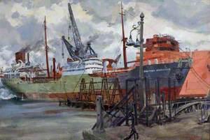 Tanker 'British Explorer', Basin Trials