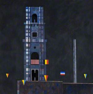 Tower with Bunting, Brugge