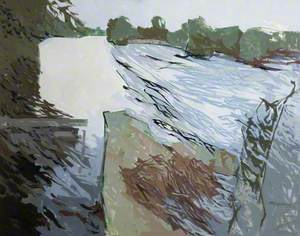 Weir on the Blackwater River, County Cork