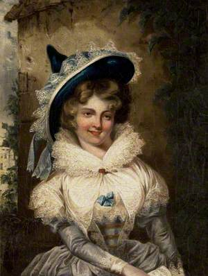 Portrait of a Lady with a Large Pointed Hat