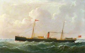 The Steam Sailing Ship 'Magnetic' at Sea