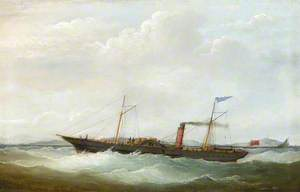 The Sail Paddle Steamer 'Dolphin' Offshore