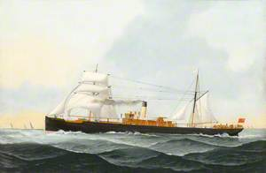 The Sail Steam Ship 'W. M. C. Mitchell' on Passage