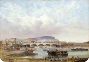 Prospect of Queens Bridge, The Harbour and Timber Pond, Belfast