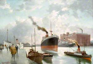 Pollock Dock, The Steamer 'City of Wellington' Being Tugged