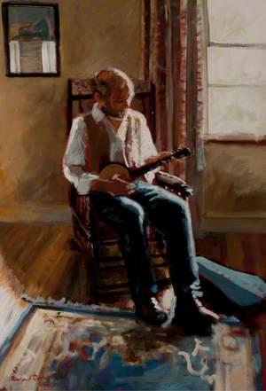 Gentleman Seated Playing the Banjo