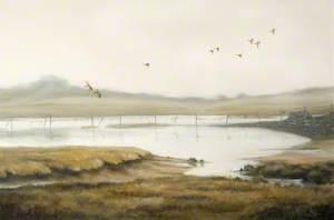 'Mallard Coming In', near Horse Island