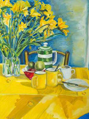 Yellow Table and Still Life