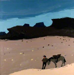 Man and Horse in the Desert