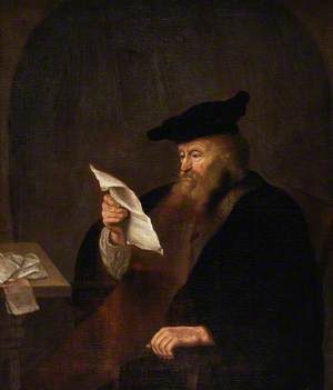 Scholar Reading in a Study