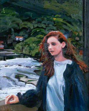 Young Woman on the Bridge at Llangollen