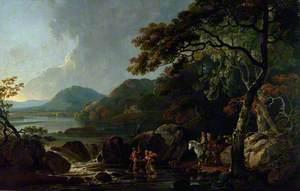 Hafod Devil's Bridge (An Estuary Scene in Scotland)