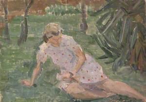 Reclining Figure in a Garden