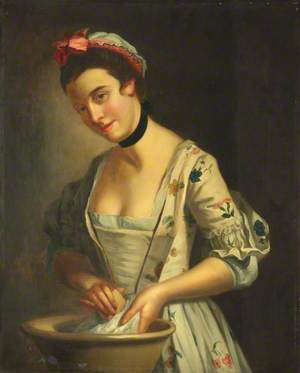 Lady's Maid Soaping Linen