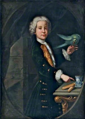 Portrait of a Man with a Parrot
