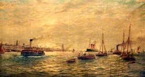 Shipping in the Mersey, 1904