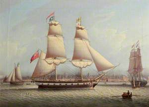 The Brig 'St Lucia' in the Mersey