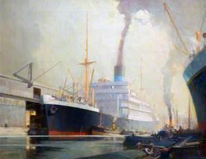 'Sarpedon' in Gladstone Dock, Liverpool