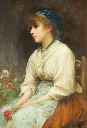 A Venetian Flower Girl