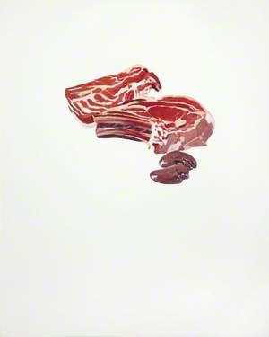 Meat Painting II In Memoriam René Magritte