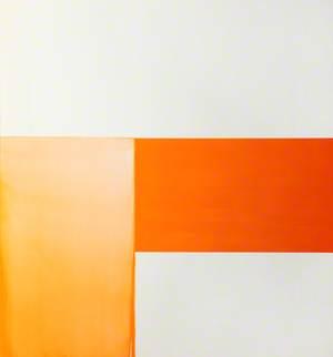 Exposed Painting, Cadmium Orange on White