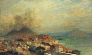 View of Naples, the Bay and Mount Vesuvius