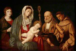 Madonna and Child with Saints Catherine (?), Nicholas and Francis