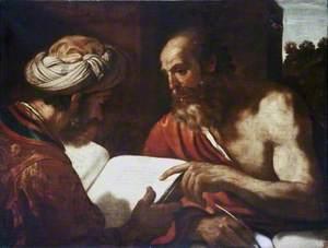 Saint Jerome and a Rabbi