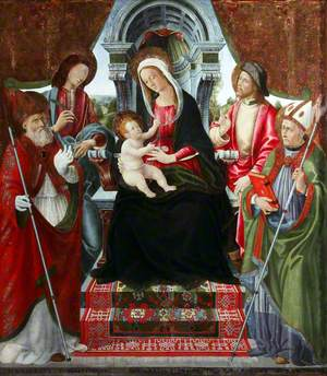 Madonna and Child with Saints Nicholas, Sebastian, Roch and Martin