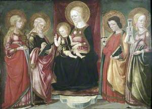 Virgin and Child Enthroned with Saints Mary Magdalen, John the Evangelist, Paul and Barbara
