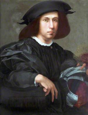 Portrait of a Young Man with a Helmet