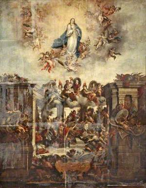 Theological Allegory with the Assumption of the Virgin