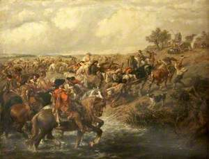 The Army on the March: The Rearguard with the Baggage Wagons