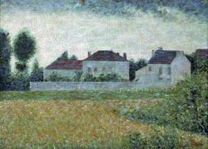 Ville d'Avray, France, maisons blanches