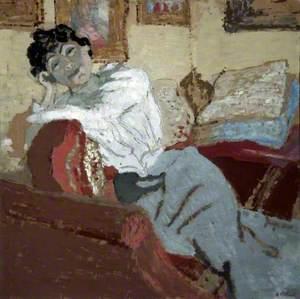Madame Hessel au Sofa