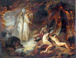 The Angels Ithuriel and Zephon Finding Satan at the Ear of Eve