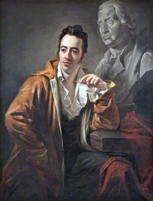 George Bullock (c.1777–1818), Sculptor, with a Bust of Henry Blundell