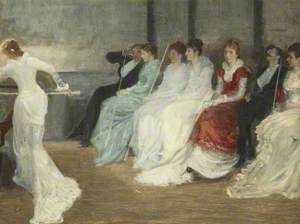 Whistler and the Leyland Family in the Billiard Room, Speke Hall