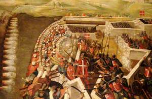 The Siege of Malta: Attack on the Post of the Castilian Knights, 21 August 1565
