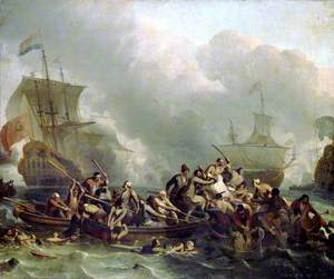 The Battle of Texel, 11 August 1673