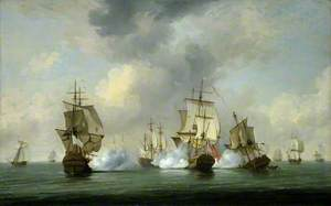 Commodore Walker's Action: The Privateer 'Boscawen' Engaging a Fleet of French Ships, 23 May 1745