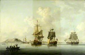 Attack on Goree, 29 December 1758: Ships at Anchor after the Action