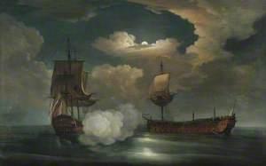 The Capture of the Comte de St Florentine by HMS 'Achilles', 4 April 1759