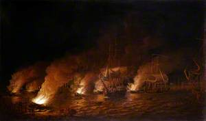 French Fire-Ships Attacking the English Fleet off Quebec, 28 June 1759
