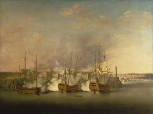 Bombardment of the Morro Castle, Havana, 1 July 1762