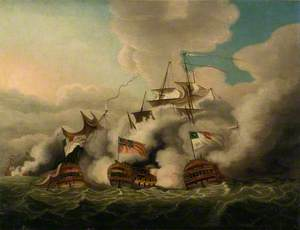 HMS 'Brunswick' Breaking the Line at the Battle of the First of June, 1794